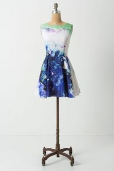 painted dress anthropologie
