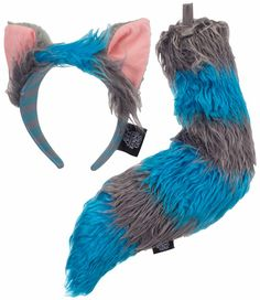 Through the Looking Glass Chesire Cat Tail and Ears Kit - This fun and mischievous cat is made easy with this great Cheshire Cat kit, officially licensed from the Alice Through the Looking Glass movie. Comes with faux fur stuffed tail and character headband. Perfect for Halloween or as a group costume with other characters. #YYC #Calgary #costume #CheshireCat #AliceInWonderland