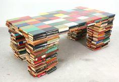 Boekentafel (2009) by Richard Hutten (http://www.richardhutten.com). There's a matching chair, too: http://pinterest.com/pin/366973069606108514/  [ #books #sculpture #table ]