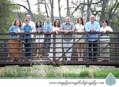 Family Photo Ideas - Large Group Outdoors