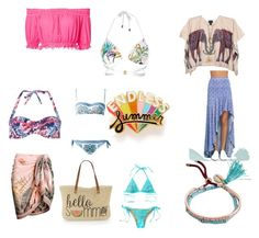 Endless Summer by dany-bear on Polyvore featuring polyvore fashion style Apiece Apart LULUS Dorothy Perkins River Island Beach Bunny Dolce&Gabbana Straw Studios ban.do Billabong clothing