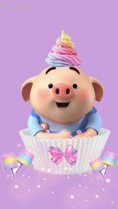 This Little Piggy, Little Pigs, Cute Little Girls, Pig Wallpaper, Cool Wallpaper, Kawaii Pig, Cute Piglets, Pig Drawing, Pig Illustration