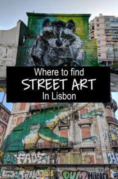 A guide to the best pieces of street art in Lisbon, Portgual. From collaborations between famous street artists to local names. Portugal Vacation, Portugal Travel, Famous Street Artists, Graffiti Murals, Last Minute Travel, Best Street Art, Visit Portugal, Iceland Travel, International Artist