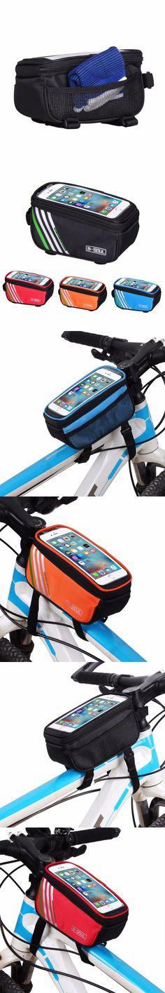 Waterproof Cycling Bike Bag Bicycle Frame Front Tube Mobile Phone Bag 5.0 inch MTB Road Bike Touch Screen Bag MTB Accessories