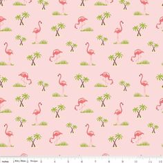 Flamingos Pink - Cotton http://www.elephantinmyhandbag.com/all.php#!/Flamingos-Pink-Cotton/p/50266068 #RileyBlake