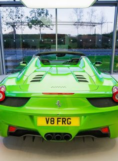 Ferrari 458 - love this color, despite believing all Ferraris should really be red
