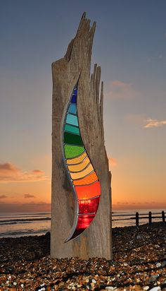 Bending Light by Louise V Durham | StripesSeries (sculpture