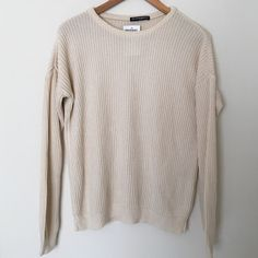 Brandy Melville Oversized sweater Brandy Melville Oversized sweater In good condition has small off string in lower front (see picture very hard to tell) super comfy and cute! Brandy Melville Sweaters