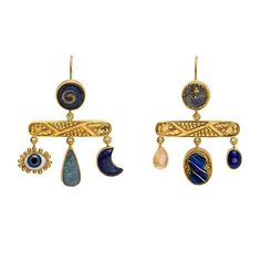 Grainne Morton- Unique jewels incorporating found objects handmade in Edinburgh. Balance Drop Earrings