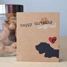 Happy Birthday Furry Friend card by Savannah O'Gwynn for Paper Smooches