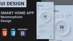 In this UI Design tutorial you will learn to design Smart Home App with Neomorphism Design using HTML, CSS & Bootstrap. Ui Design Tutorial, Design Tutorials, Card Ui, Tracking App, Travel Cards, Smart Home, Channel, Watch, Youtube