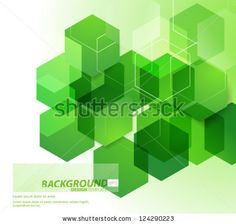 Design Template - eps10 Abstract Hexagonal Shapes Background - stock vector