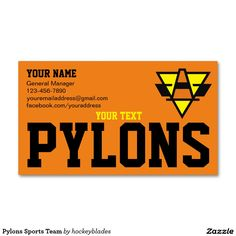 Sports Team Business Card Keep in contact with potential prospects for your team Are You The One, Business Cards, Create Your Own, Card Making, Things To Come, Sports, Prints, Lipsense Business Cards, Hs Sports
