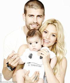 Shakira, Gerard Pique, & their baby