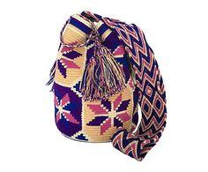 Bolso Wayuu tejido a mano de algodón y fibra Amie