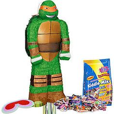 Shop for Ninja Turtles Pinata Kit and other party supplies. The most popular party Supplies and Decorations, all available at wholesale prices! Tmnt Costume Ideas, Great Costume Ideas, Ninja Turtle Pinata, Ninja Turtle Birthday, 3d Ninja, Ninja Turtle Party Supplies, Boy Birthday Parties, 7th Birthday, Birthday Ideas