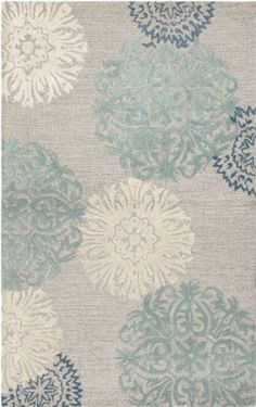 Amazon.com - Rizzy Home DI2241 Dimensions 5-Feet by 8-Feet Area Rug, Light Gray