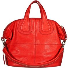 GIVENCHY Nightingale Red Medium Nappa leather tote bag ($1,670) ❤ liked on Polyvore