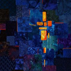 He has risen! - Art quilts by Maria Elkins