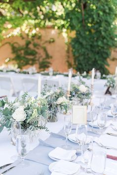 Elegant outdoor blue wedding filled with greenery at Hotel Albuquerque in New Mexico (Maura Jane Photography) Wedding Set Up, Hotel Wedding, Blue Wedding, Elegant Wedding, Wedding Ideas, Wedding Ceremony Decorations, Wedding Table Settings, Outdoor Ceremony, Destination Wedding Photographer