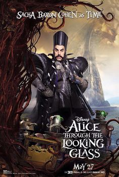 Directed by James Bobin. With Mia Wasikowska, Johnny Depp, Helena Bonham Carter, Anne Hathaway. Alice returns to the whimsical world of Wonderland and travels back in time to help the Mad Hatter. Lewis Carroll, Film Tim Burton, 3d Cinema, Sacha Baron Cohen, Chesire Cat, Mia Wasikowska, Alice Madness, The Lone Ranger, Walt Disney Pictures