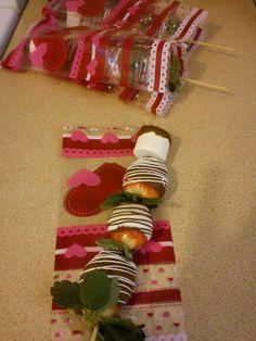 Pinchos de Fresas con Chocolate!! Suukala, Creando Para Ti.