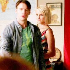 Image result for glee sam and quinn gif