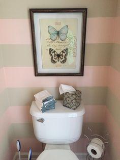 Blush stripes are yummy in this powder bath!