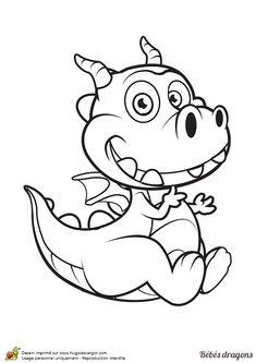 1000 images about coloriages de dragons on pinterest dragon bebe and dragon manga - Dessin de bebe dragon ...