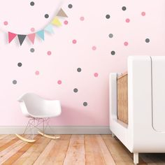 Nursery Wall Decal Confetti Wall Decal Dots by trendypeasdecals
