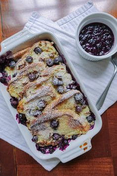 Baked Blueberry Brioche French Toast with a Blueberry Syrup Baked Blueberry Brioche French Toast – Darling Down South Challah French Toast, French Toast Rolls, Best French Toast, Overnight French Toast, Cinnamon French Toast, Banana French Toast, French Toast Bake, French Toast Bread Pudding, French Brioche