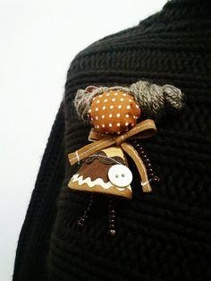 maramanufaktura / brošňa mini MARA čokoládka /hnedá/