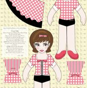 audrey and pippin doll panel by mytinystar, click to purchase fabric