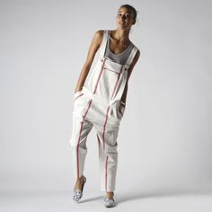 """<3 """"the lost art of overalls."""" boy. by band of outsiders striped overalls"""