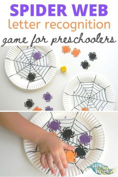 This Spider Web letter recognition game for preschoolers is the perfect addition for a Halloween theme. Craft Activities For Toddlers, Literacy Activities, Infant Activities, Toddler Preschool, Preschool Activities, Kindergarten Learning, Early Learning, Cooperative Education, Letter Recognition Games
