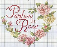 Cross Stitch pattern - Heart of Roses