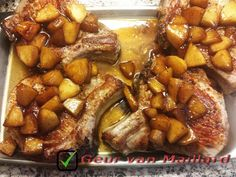 Caramel Apple Pork Chops - Geur van Maillard