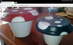 Toad stools Toad, Carpentry, Stools, Terracotta, Coffee Maker, Kitchen Appliances, Canning, Benches, Coffee Maker Machine