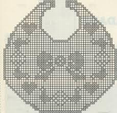 Risultati immagini per bavette neonato uncinetto schemi