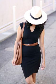 Simple and chic black and brown