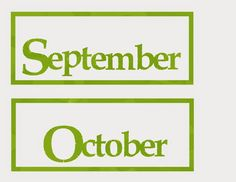 FREE calendar cards- Months of the Year