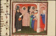 De duivel verschijnt aan Sint Dominicus van Caleruega in de vorm van een kat / The devil appears in the form of a cat to St. Dominic of Calerueja