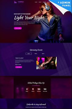 Night Club - #MotoCMS3 #LandingPage #Template.