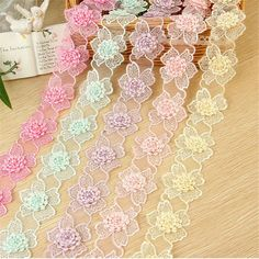 Cheap craft web hot glass, Buy Quality craft modern directly from China craft fimo Suppliers: 10Yards Beautiful 5Colors 3D Pearl Flower Embroidery Lace Applique Flower Sewing Lace Trims DIY Craft 4.5cm LC0016