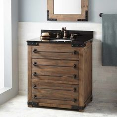 Photo Gallery On Website  Bonner Reclaimed Wood Vanity for Undermount Sink Gray Wash Pine