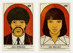 """For the anniversary of Tarantino's movie """"Pulp Fiction"""", the team at Studio MUTI gathered to create very beautiful posters representing e Film Posters, Art Posters, 1990s Films, Mia Wallace, Epic Movie, Romantic Movies, Creative Advertising, Quentin Tarantino, Pulp Fiction"""