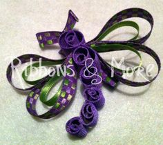 dragonfly bow from ribbon Ribbon Art, Ribbon Crafts, Ribbon Bows, Diy Hairstyles, Pretty Hairstyles, Hair Ribbons, Ribbon Sculpture, All Things Purple, Girl Hair Bows