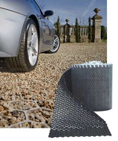 Discover thousands of images about NDS EZ Roll Gravel Pavers - - x Roll - Gray Permeable Driveway, Diy Driveway, Gravel Driveway, Driveway Design, Driveway Entrance, Concrete Driveways, Walkways, Rock Driveway, Driveway Apron