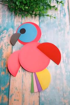 27 Most Lovely Paper Crafts For Kids : Easy Fun Make Your Kids Time Happy Frauen Basteln mit Kindern Herbst ? Paper Crafts Origami, Paper Crafts For Kids, Diy Paper, Paper Crafting, Diy For Kids, Bird Paper Craft, Paper Birds, Origami Easy, Craft With Paper