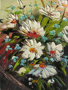 Energy 18 x 24 Original Oil Painting Palette Knife by decorpro, $179.50